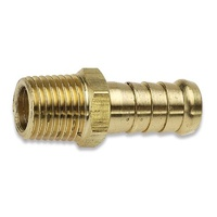 "Jamec Pem 3/8"" BSP Tailpiece Male Barbed End 8TM6 Brass 28.1214"