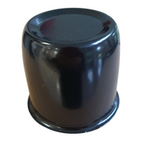 1 x Black Centre Cap Dome To Suit 75mm Centre Bore Car Trailer Boat