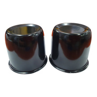 2 x Black Centre Caps Domes To Suit 84mm Centre Bore Car Trailer Boat