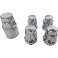 12x1.5 Chrome Wheel Locknut Set Mag / Steel Chev Ford Holden Honda Mitsu Mazda