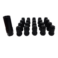 20 x 12x1.5 Black Spline Wheel Nut Ford Holden Honda Mitsu withSocket