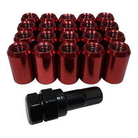 20 x 12x1.5 Red Internal Hex Tuner Wheel Nut + Key Holden VL VN VR VS VT VX VZ